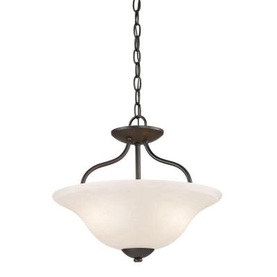 Conway 2-Light Oil-Rubbed Bronze Semi-Flush Mount Light