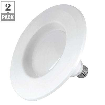 45W Equivalent Soft White R20 Dimmable InstaTRIM 4 in. LED Down Light Bulb (2-Pack)