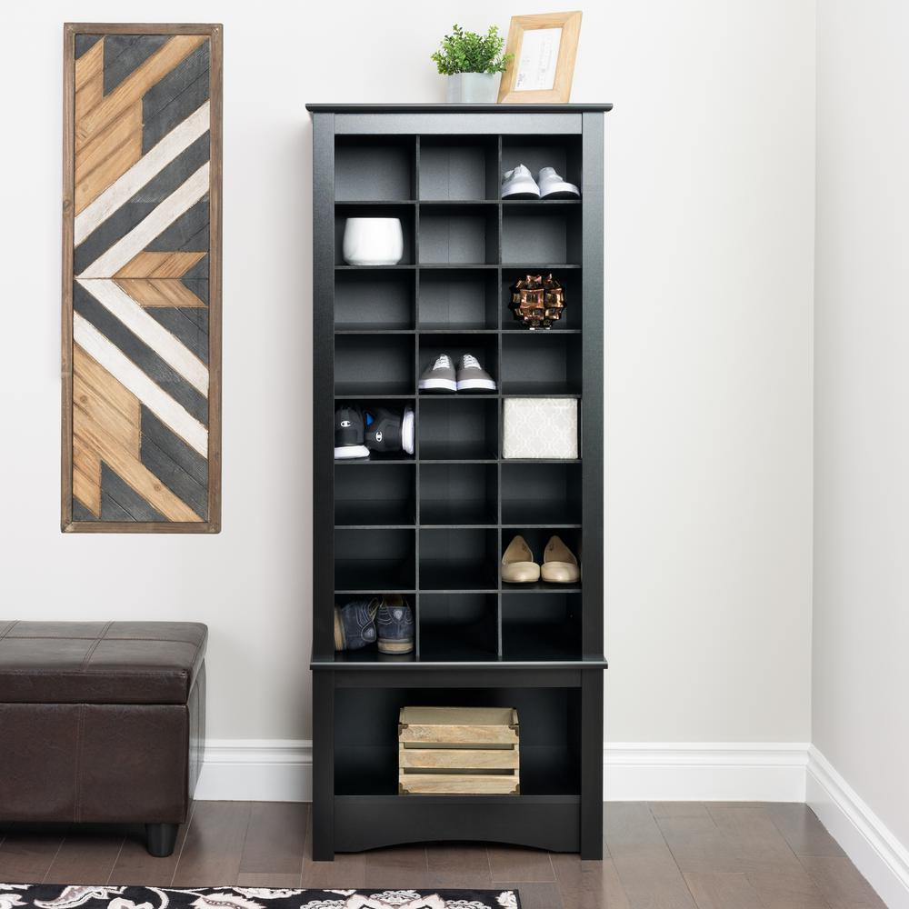 24 3/4 in. x 61 1/4 in. Black 24-Cube Organizer