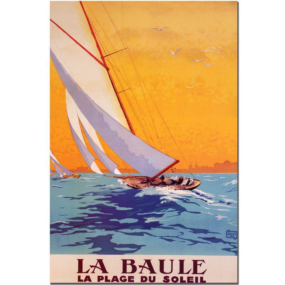 Trademark Fine Art 32 in. x 47 in. La Baule by Charles Allo Canvas Art