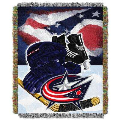 Blue Jackets Multi Color HIA Tapestry Throw