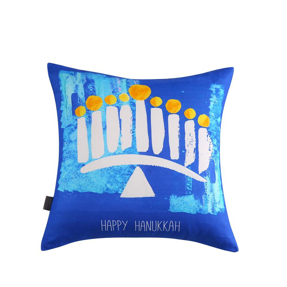 Hanukkah Reversible 20 in. x 20 in. Decorative Pillow