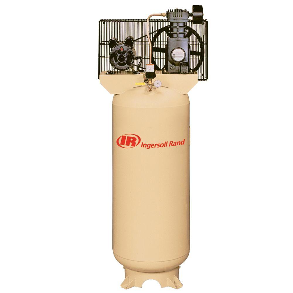 Ingersoll Rand Reciprocating 60 Gal. 5 HP Electric 230-Volt with Single Phase Air Compressor