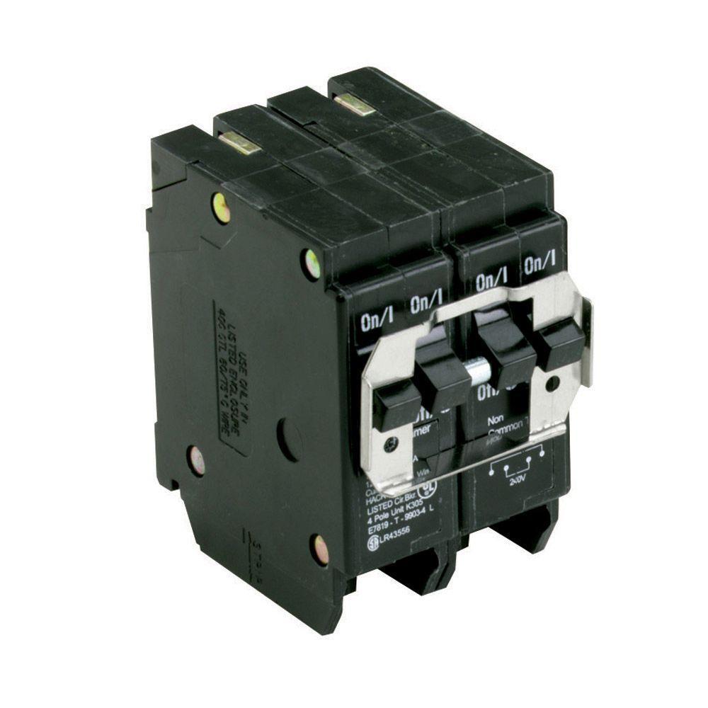 BR 1-20 Amp 2 Pole 1-40 Amp 2 Pole BQC (Common Trip) Quad Circuit Breaker
