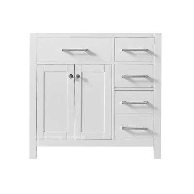 Colette 36 in. W x 22 in. D x 34.2 in. H Bath Vanity Cabinet Only in White