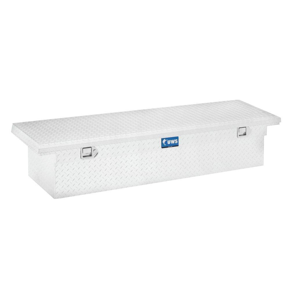 58 in. Aluminum Single Lid Crossover Tool Box with Low Profile