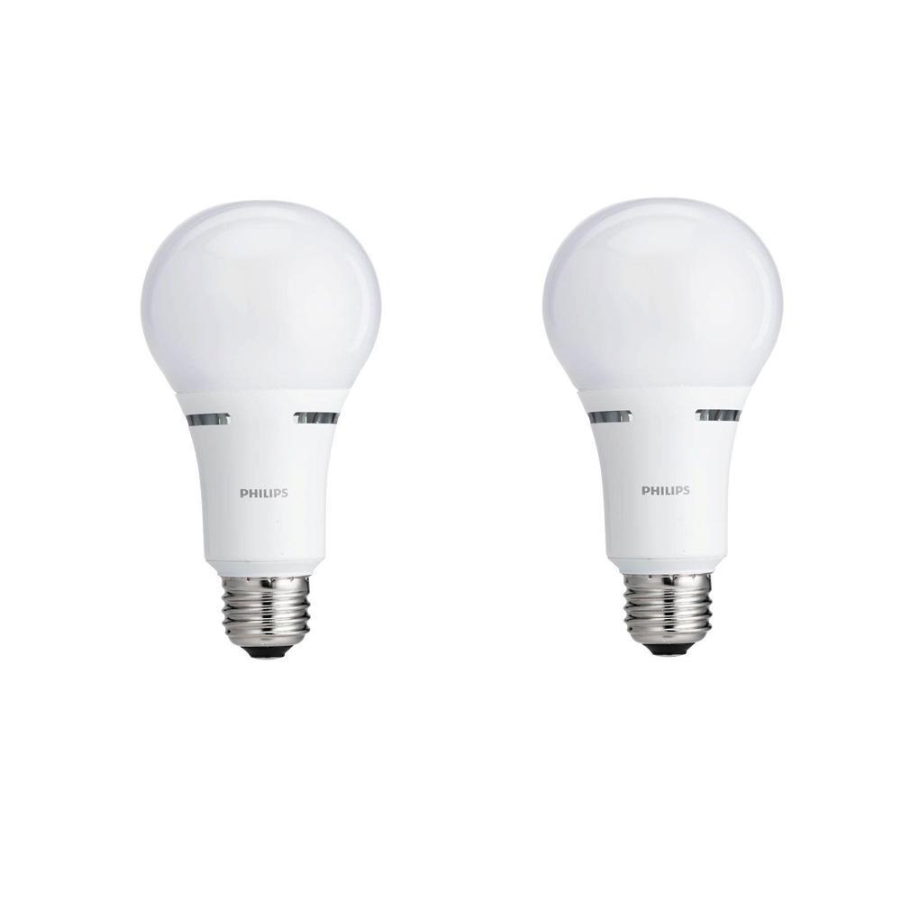 40-Watt/60-Watt/100-Watt Equivalent A21 Energy Saving 3 Way LED Light Bulb Soft White (2700K) (2-Pack)