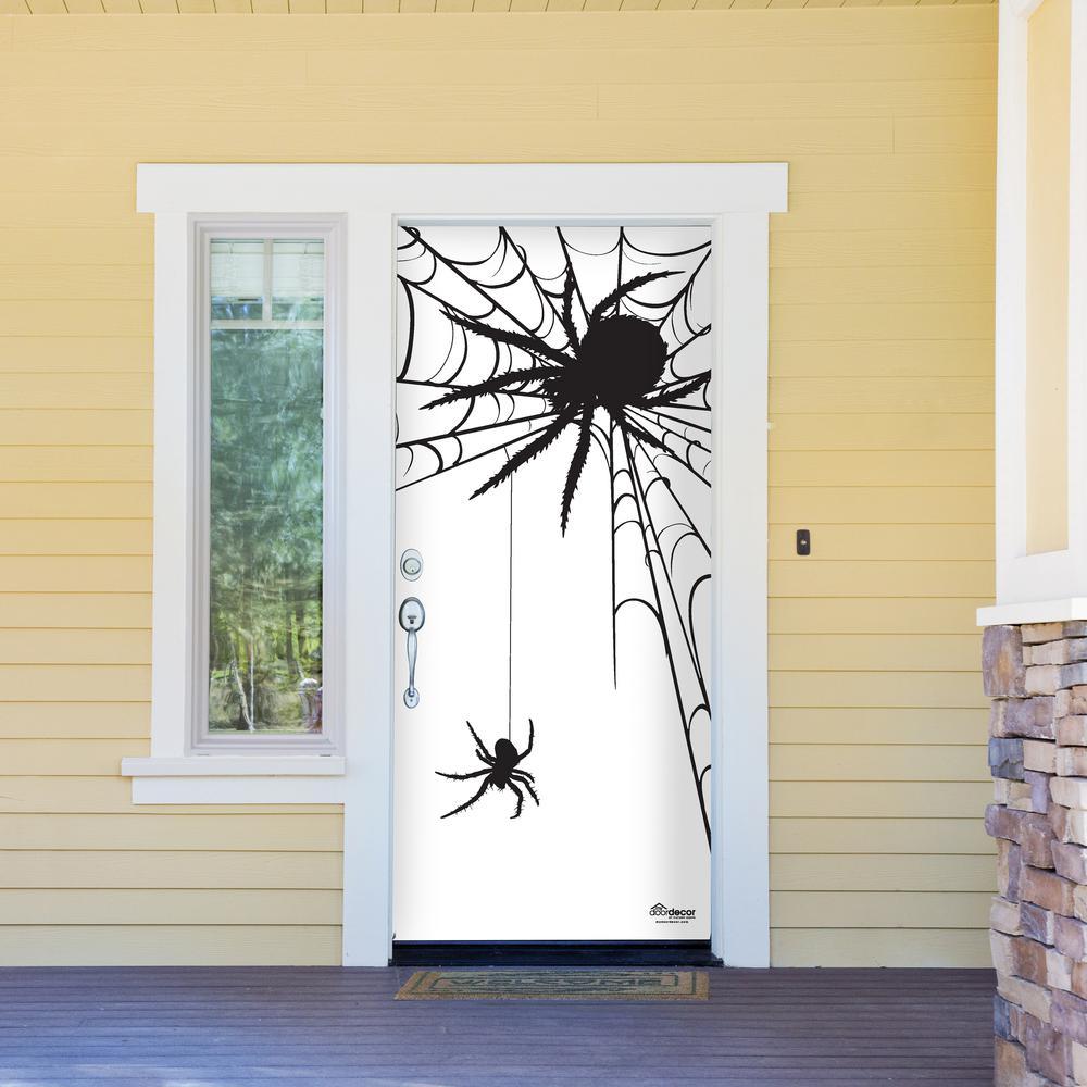 My Door Decor 36 in x 80 in Spiders Halloween Front Door Decor Mural