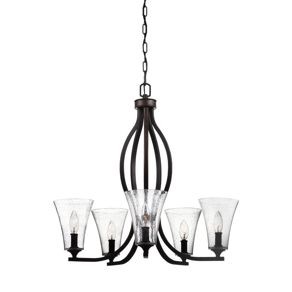 Marteau 5-Light Oil Rubbed Bronze Single Tier Chandelier Shade