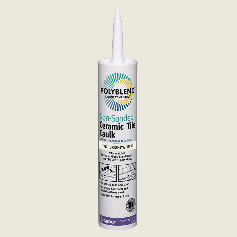 Custom Building Products Polyblend #381 Bright White 10.5 oz. Non-Sanded Ceramic Tile Caulk