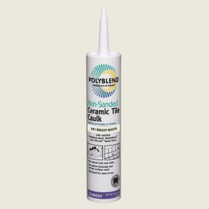 Polyblend #381 Bright White 10.5 oz. Non-Sanded Ceramic Tile Caulk