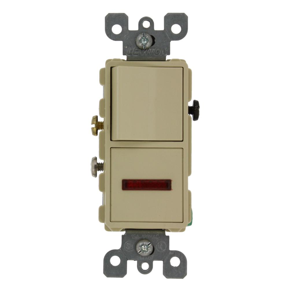 Pull Chain Light Switches Wiring Devices Controls The 1689 50 Leviton Diagram 15 Amp Decora Commercial Grade Combination Single Pole Rocker Switch And