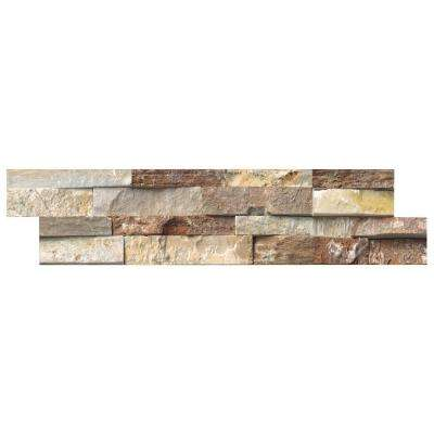 Golden White Ledger Panel 6 in. x 24 in. Natural Quartzite Slate Wall Tile (10 cases / 40 sq. ft. / pallet)