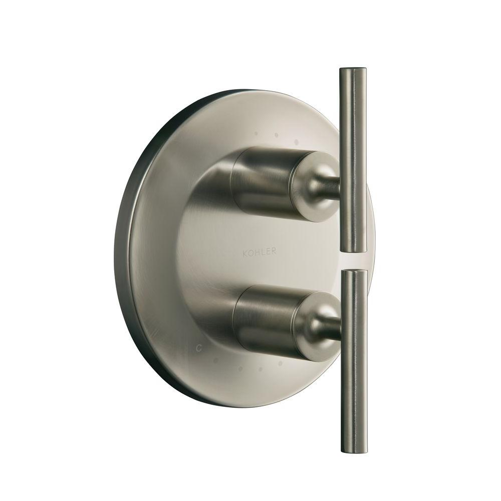 Purist 2-Handle Valve Trim Kit in Vibrant Brushed Nickel (Valve Not