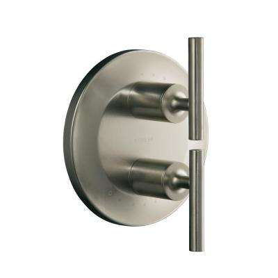 Purist 2-Handle Valve Trim Kit in Vibrant Brushed Nickel (Valve Not Included)