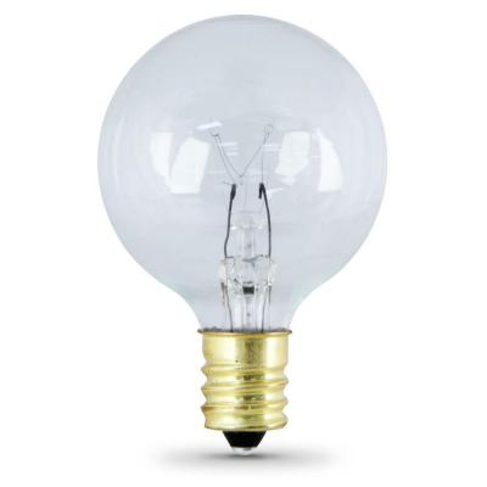 Feit Electric 7-Watt Soft White G16.5 Incandescent Light Bulb (2-Pack) (Case of 36)