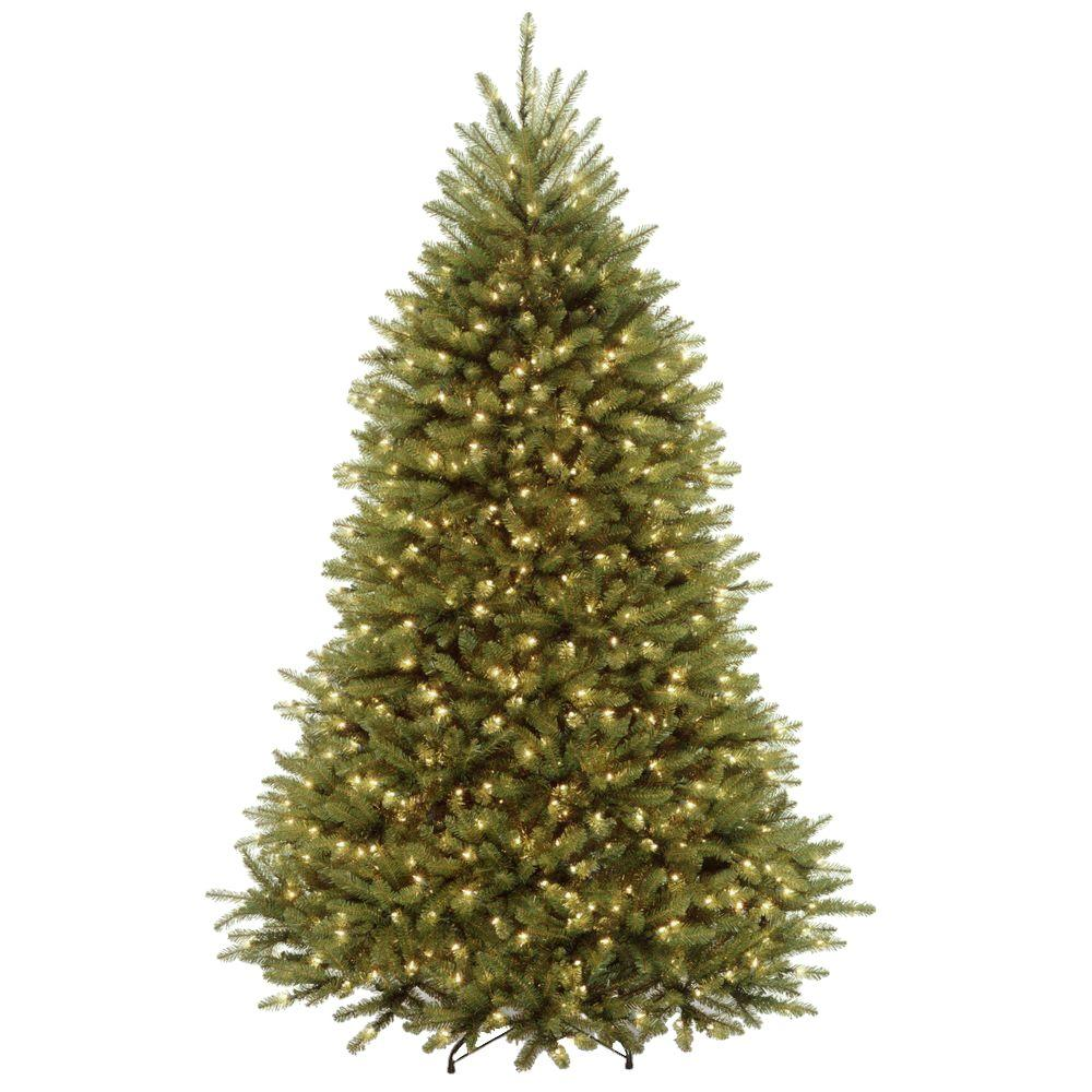 6.5 ft. Dunhill Fir Artificial Christmas Tree with 650 Clear ...