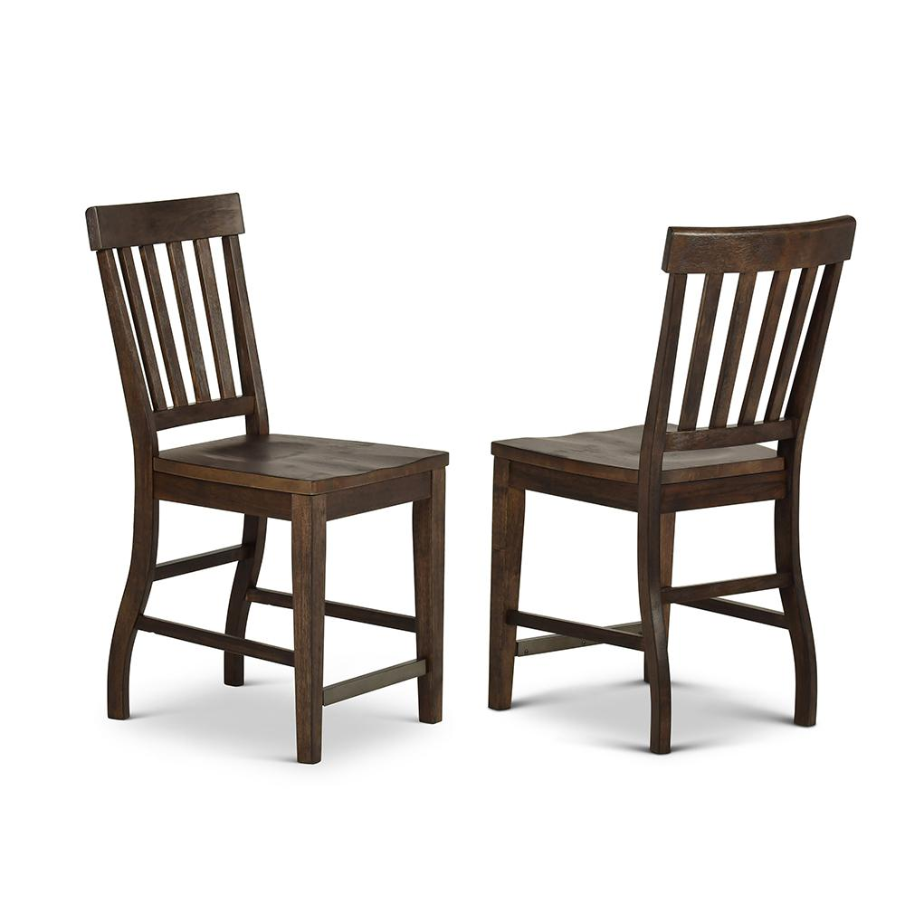 Cayla 42 in. Dark Oak Counter Chair (Set of 2)