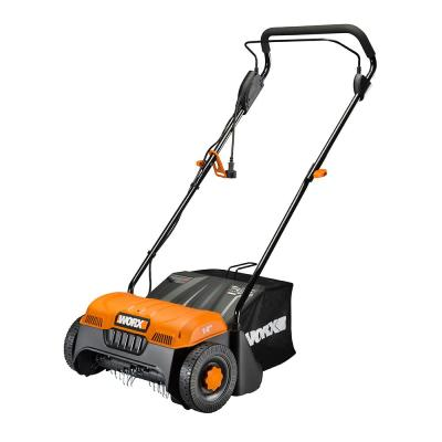 14 in. 12 Amp Corded Electric Cultivator/Dethatcher with Bag