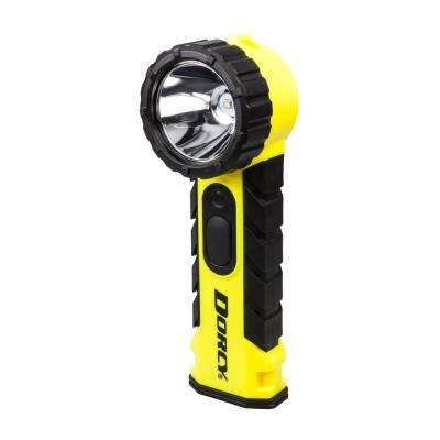 Intrinsically Safe Battery Powered 190 Lumens Water-Resistant Flashlight with Pocket Clip in Yellow