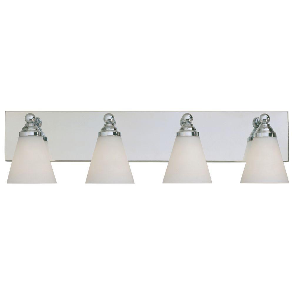 Hudson 4-Light Chrome Wall Mount Vanity Light