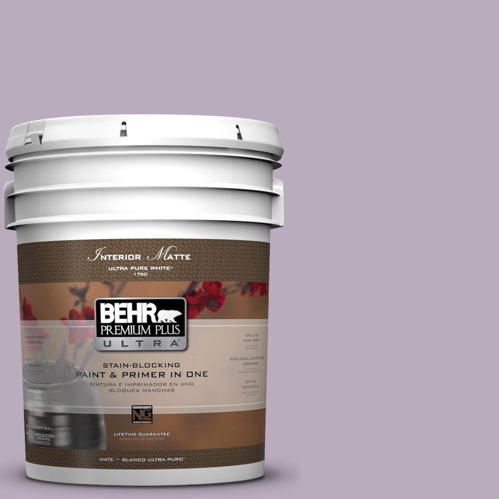 BEHR Premium Plus Ultra 5 gal. #HDC-SP14-12 Exclusive Violet Matte Interior Paint