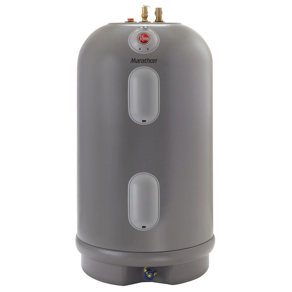 Rheem Marathon 50 Gal. Short 4500/4500-Watt Elements Non Metallic Lifetime Electric Tank Water Heater