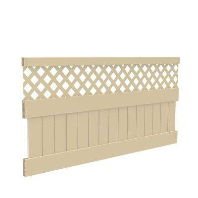 4 ft. H x 8 ft. W Sand Vinyl Carlsbad Privacy Fence Panel Kit