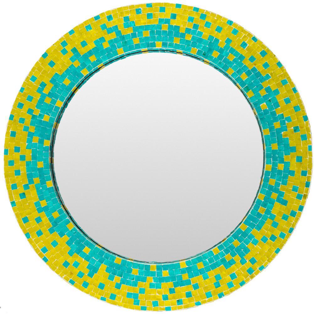 Ixdona 31.5 in. x 31.5 in. MDF Framed Mirror