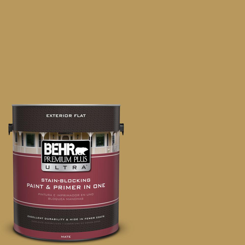 1-gal. #330F-5 Golden Bear Flat Exterior Paint