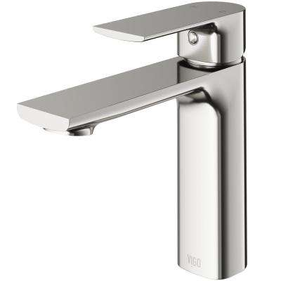 Davidson Single Hole Single-Handle Bathroom Faucet in Brushed Nickel