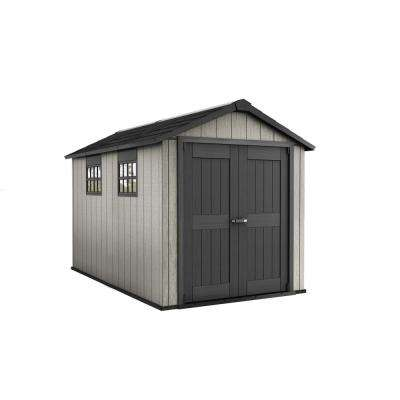 Oakland 7.5 ft. x 11 ft. Plastic Outdoor Storage Shed