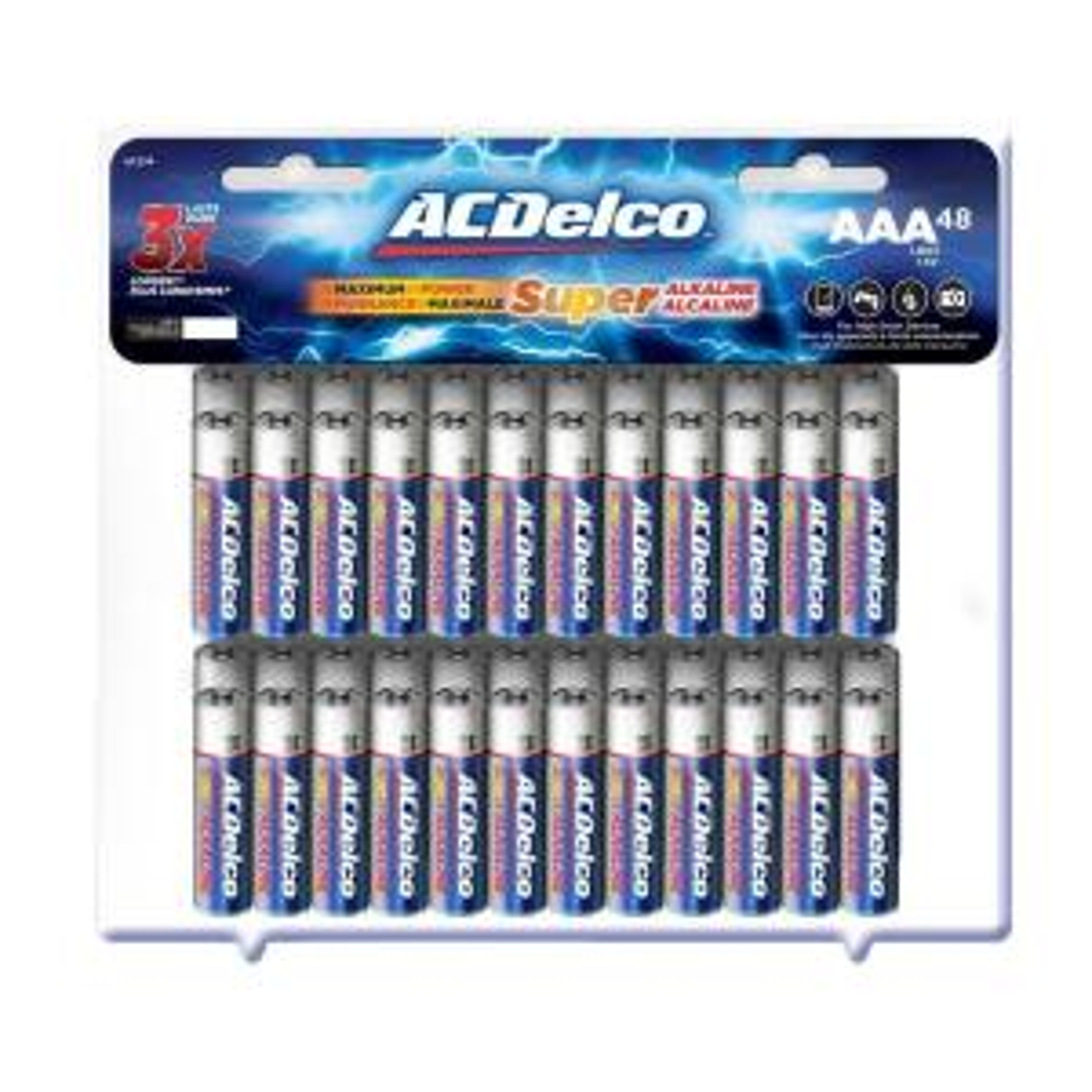 48-Pack ACDelco Super Alkaline AAA Batteries