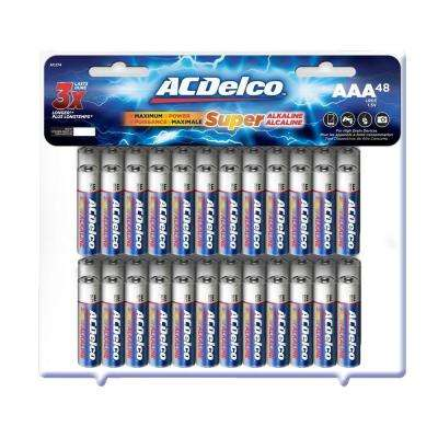 Super Alkaline AAA Battery (48-Pack)
