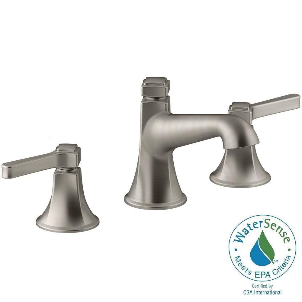 Bathroom Faucet Brushed Nickel kohler rubicon 8 in. widespread 2-handle bathroom faucet in