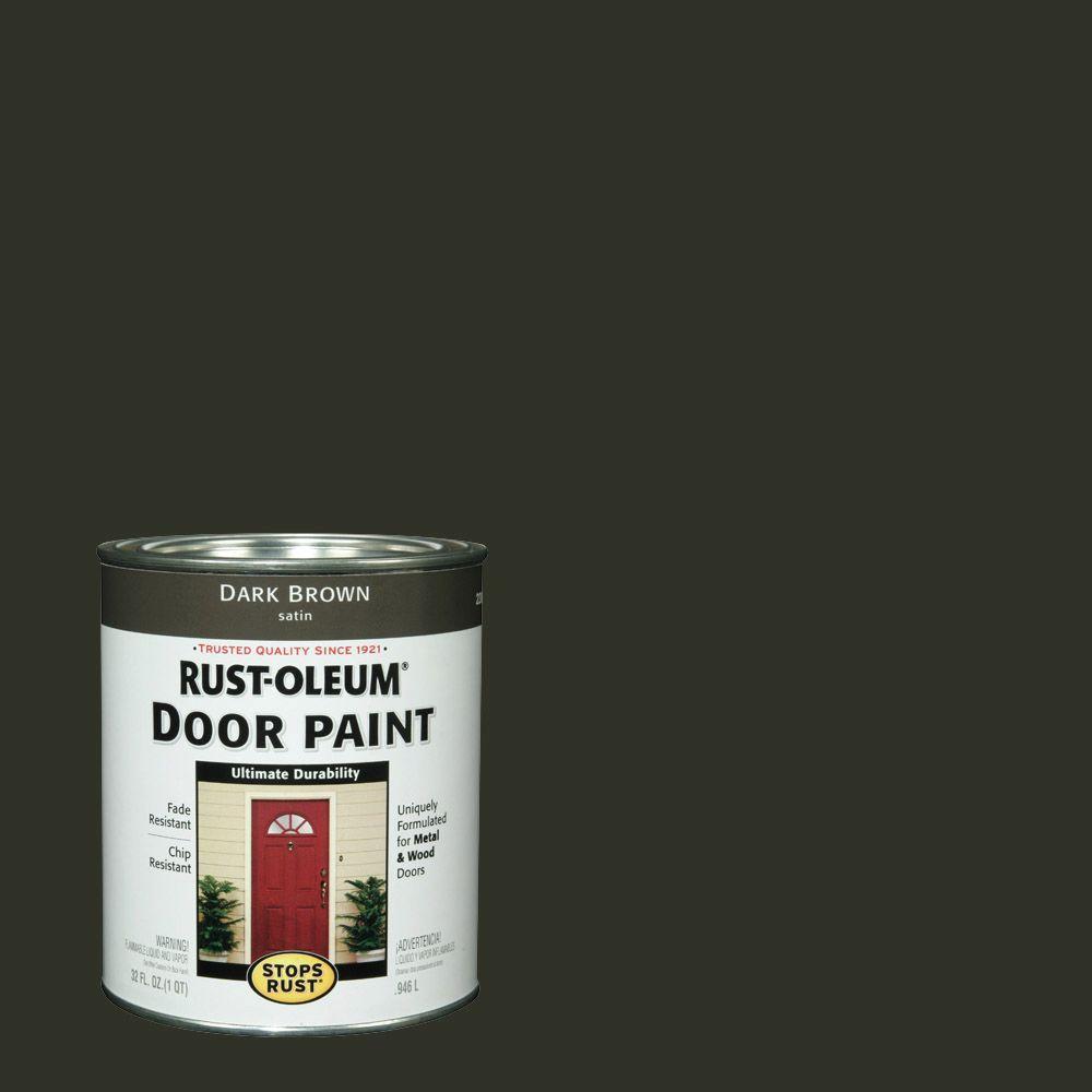 Rust-Oleum Stops Rust 1 qt. Dark Brown Door Paint (2-Pack)