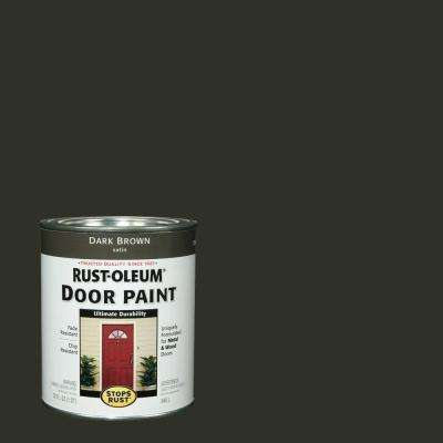 1 qt. Dark Brown Door Paint (2-Pack)