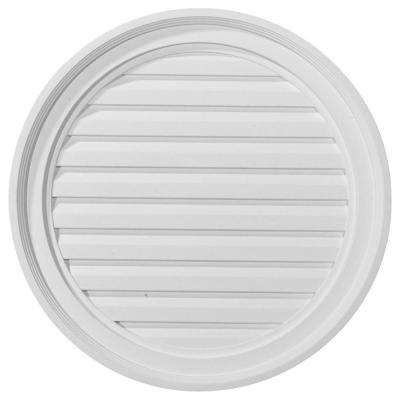 2 in. x 22 in. x 22 in. Functional Round Gable Louver Vent