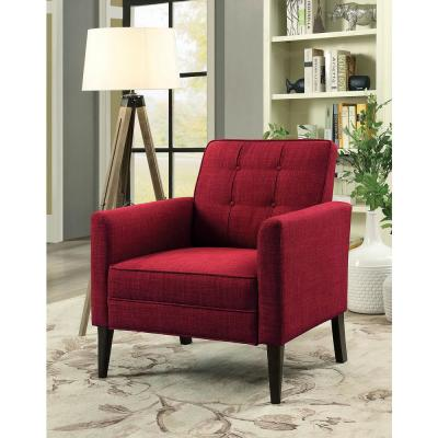Amelie 31 in. Red Contemporary Accent Chair