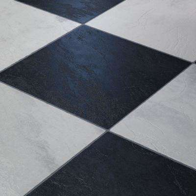 Take Home Sample - Black and White Chess Slate Laminate - 5 in. wide x 11-3/5 in. length