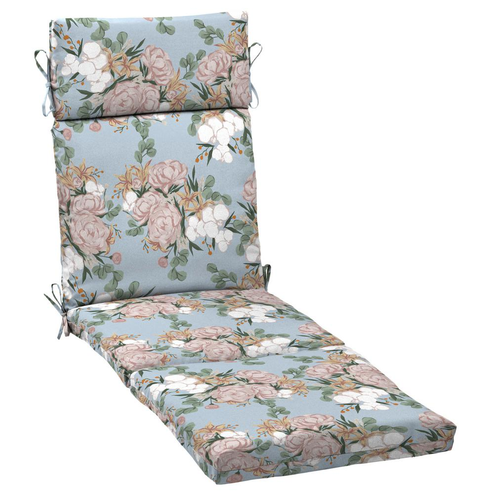 Arden Selections Artisans 72 in. x 21 in. Giana Floral Outdoor Chaise Lounge Cushion