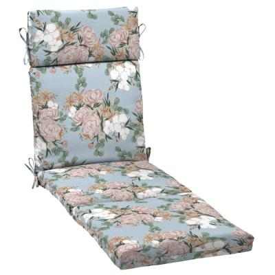 Artisans 72 in. x 21 in. Giana Floral Outdoor Chaise Lounge Cushion
