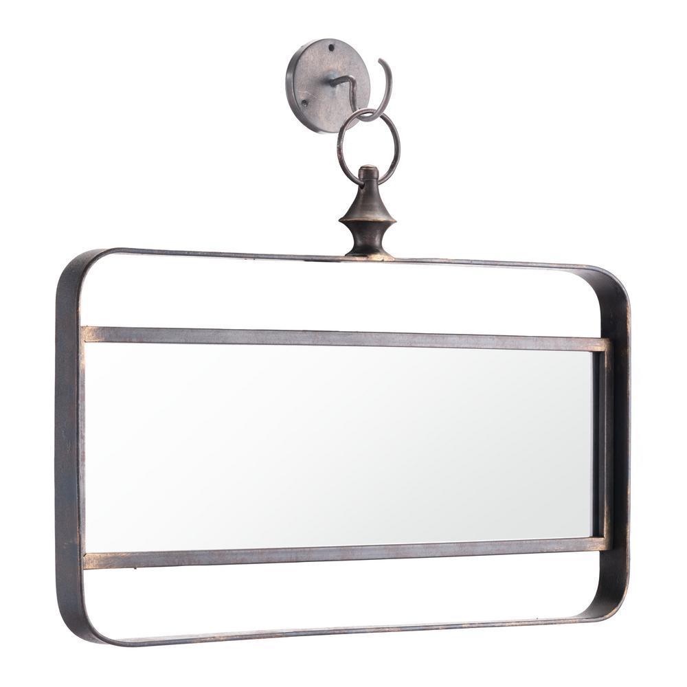 Rectangle Black Decorative Mirror
