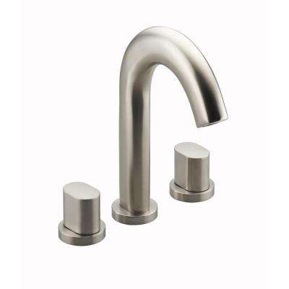 Oblo Deck-Mount 2-Handle Bathroom Faucet Trim Kit in Vibrant Brushed Nickel (Valve Not Included)