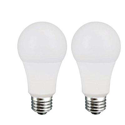 60W Equivalent Soft White A19 Dimmable LED Light Bulb (2-Pack)
