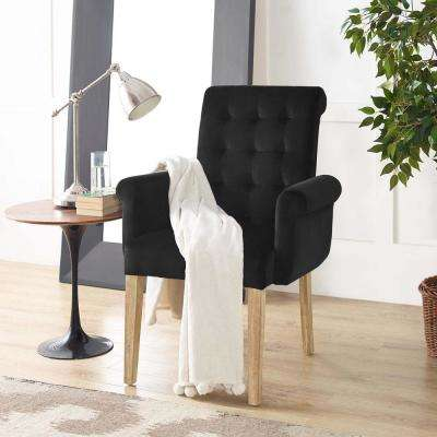 Premise Velvet Armchair In Black