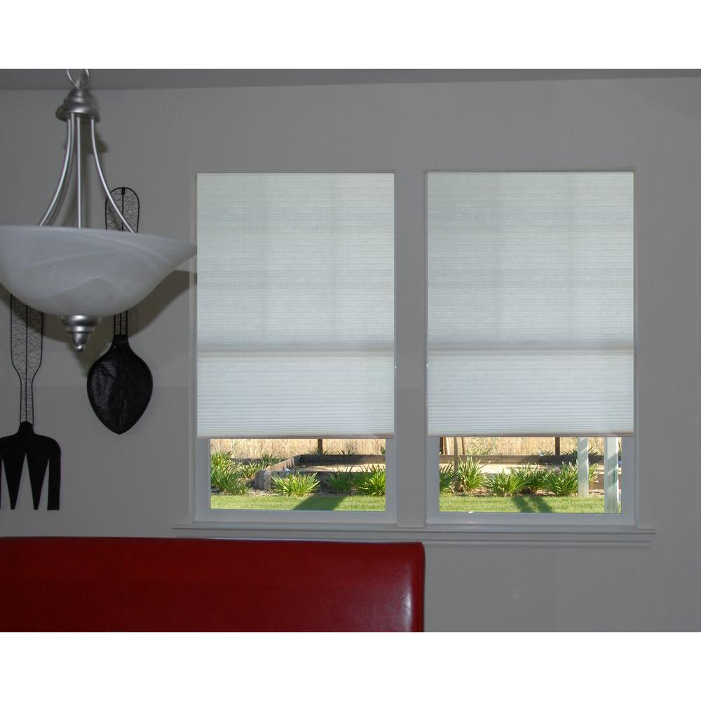 Redi Shade Trim-at-Home Easy Lift White 9/16 in. Cordless Light Filtering Cellular Shade - 48 in. W x 64 in. L