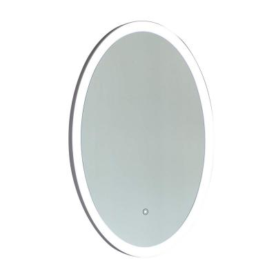 23.5 in. x 35.5 in. Oval LED Lighted Mirror with Touch Sensor Switch in Clear