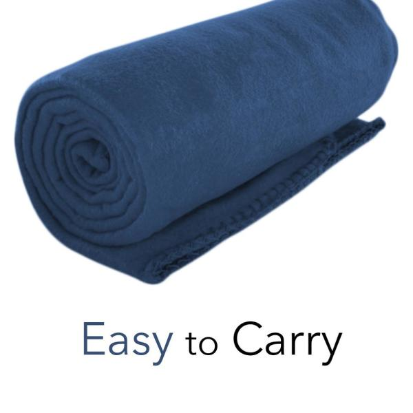 Navy Blue Comfy Throw Imperial Home 50 x 60 Inch Soft Cozy Fleece Blanket