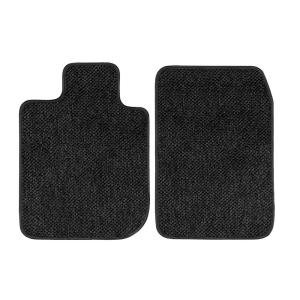 Black Coverking Custom Fit Rear Floor Mats for Select Nissan Xterra Models Nylon Carpet CFMCX1NS7582